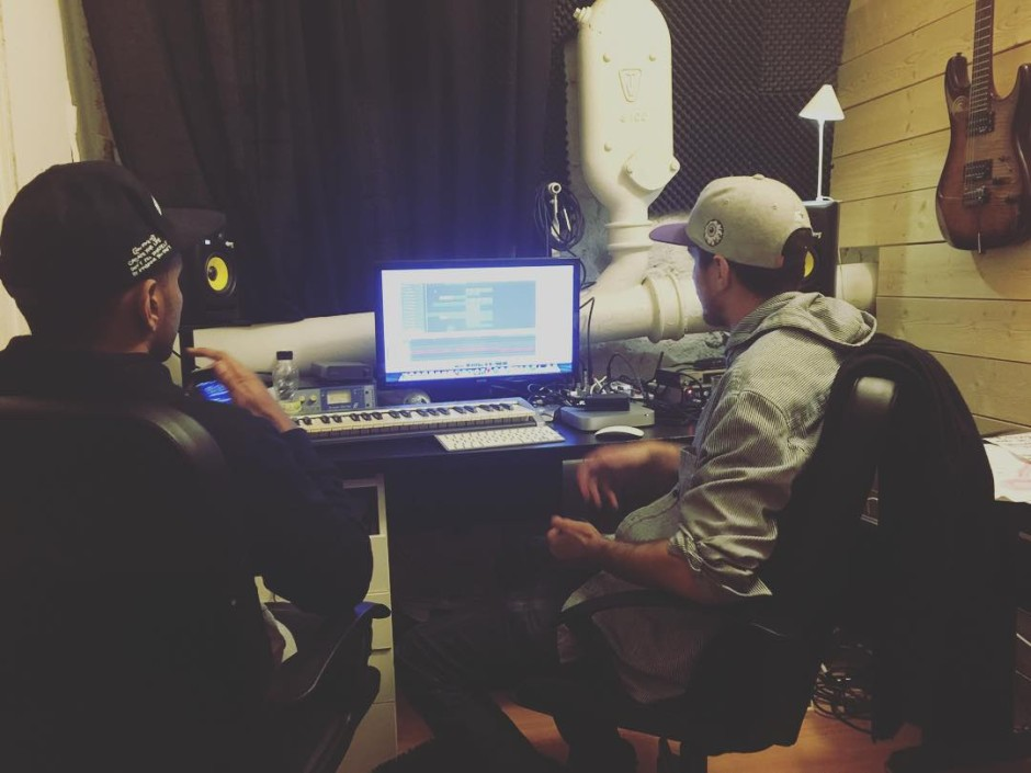 @gedigedz X @billybeast X @djmelika in the studio making music #hemligtprojekt #producer