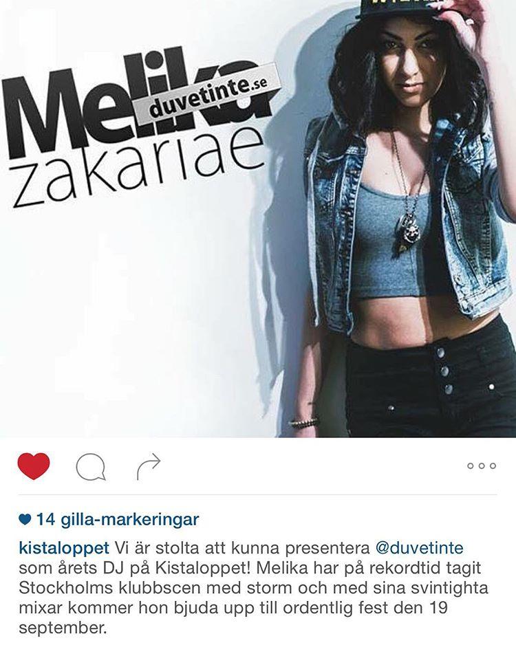 #djmelika spelar på @kistaloppet nu på lördag!